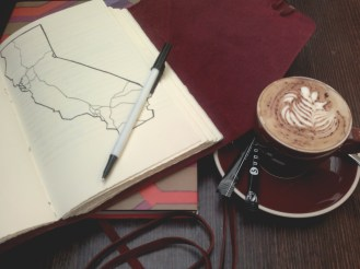 Journaling with a cup of coffee