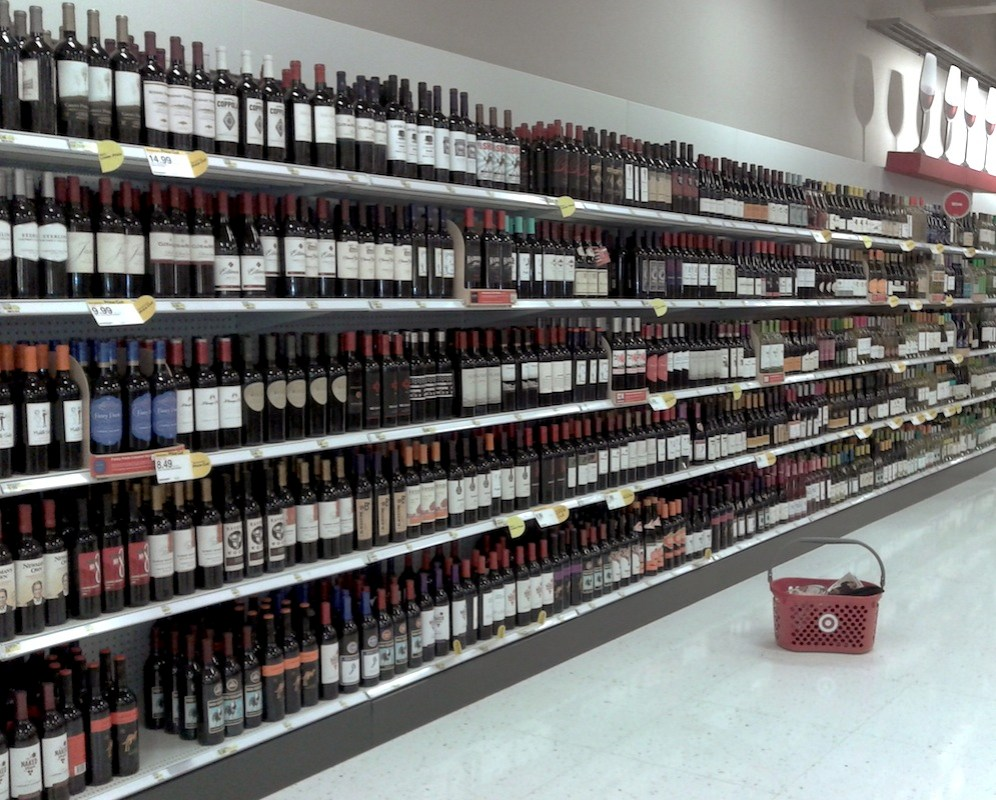 You can buy wine at Target