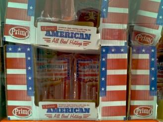 Classic American all beef hotdogs