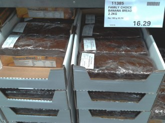 See? I told you Aussies love their banana bread. It's sold in bulk!!!