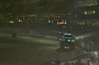 An oversized 2-stroke lawnmower