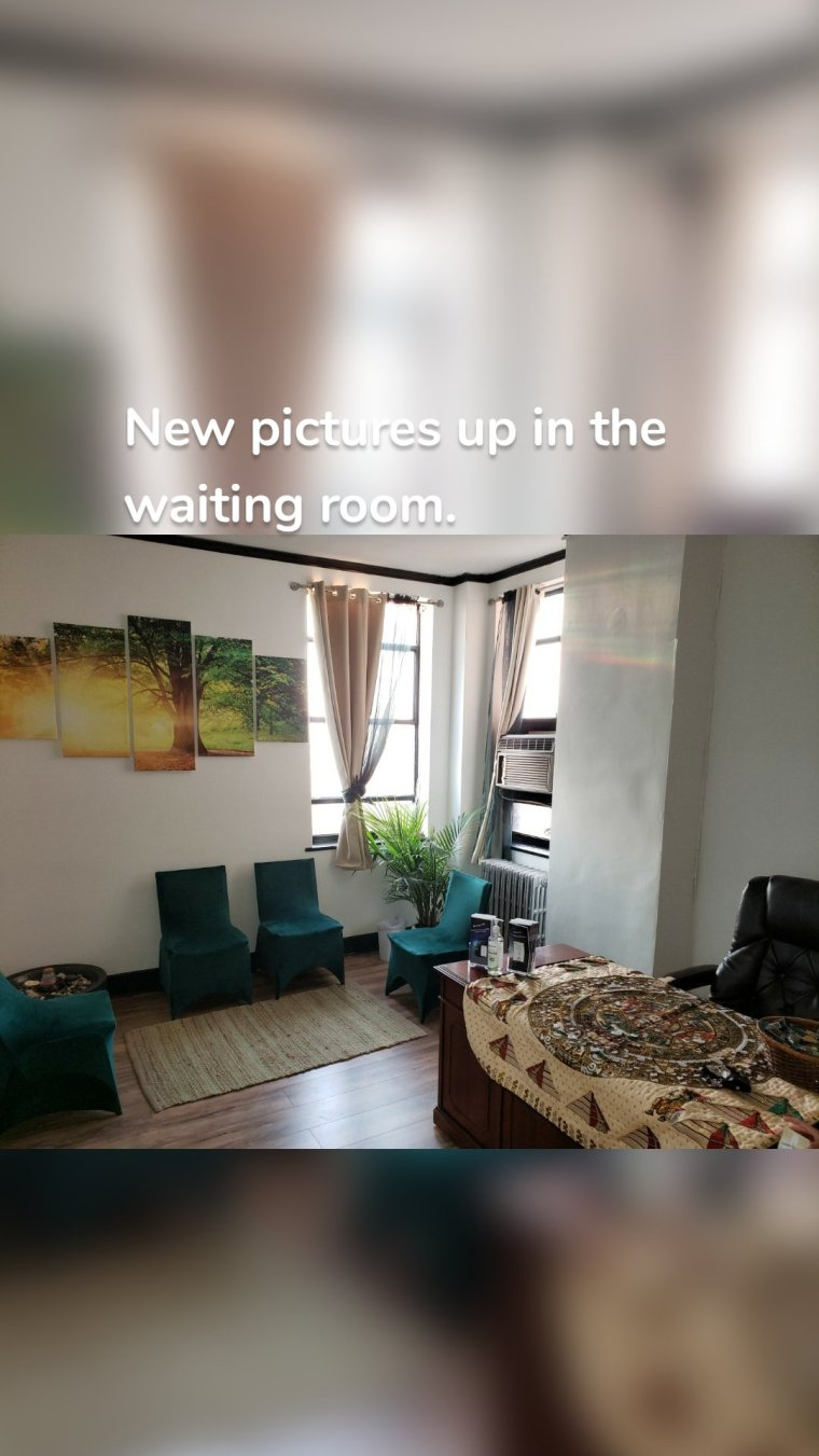 New pictures up in the waiting room.