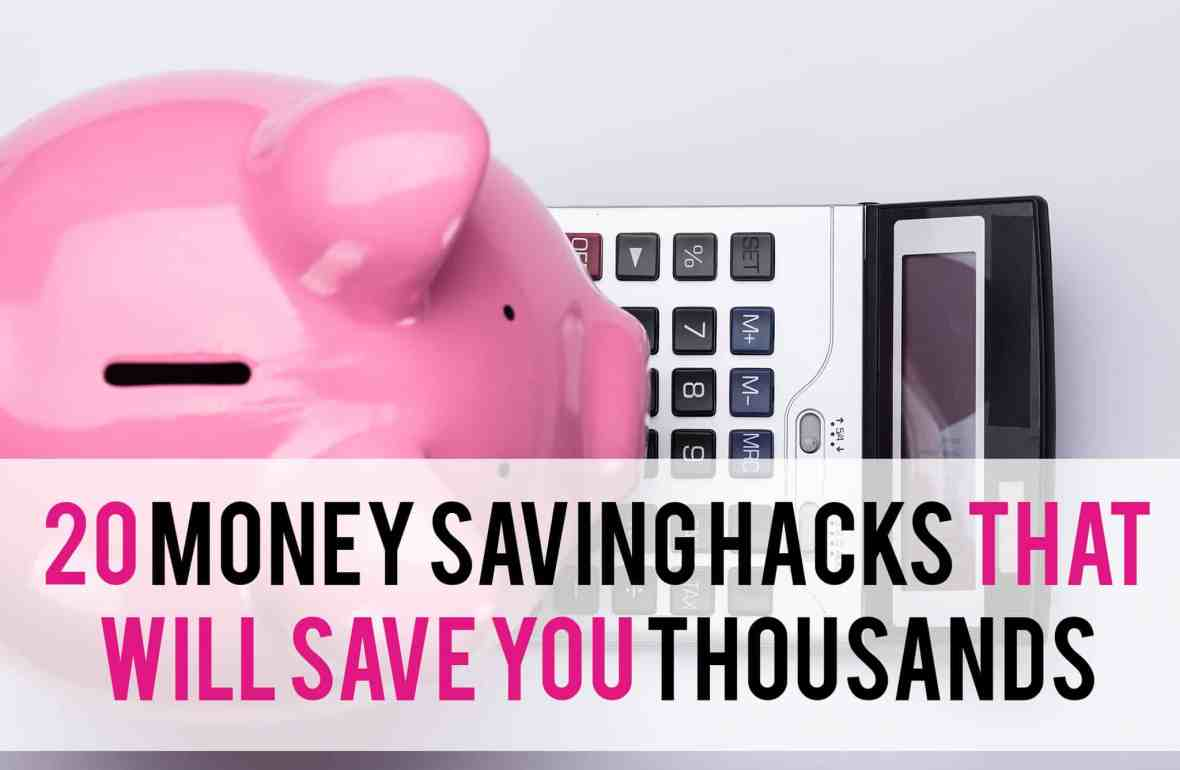 Are you looking for easy ways to save money? These 20 money saving hacks will help you keep more money in your bottom line and help you stay on budget. These frugal tips are great for families or those looking to for ways to save money and live frugally. #budget #savemoney #frugalliving | www.becominglifesmart.com