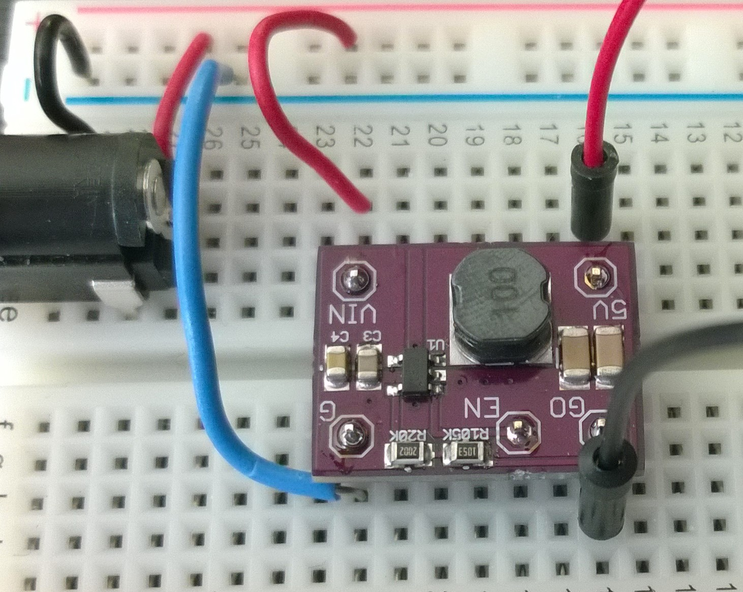 Making A Buck Converter Becoming Maker Circuit Compact Without Generating Heat As Capacitor C1 Dissipates 500ma Dc On Breadboard