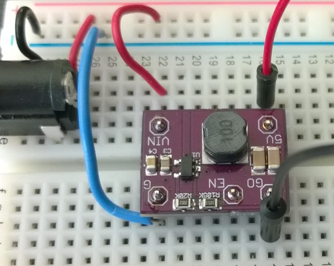 500ma DC-DC Buck Converter on a Breadboard