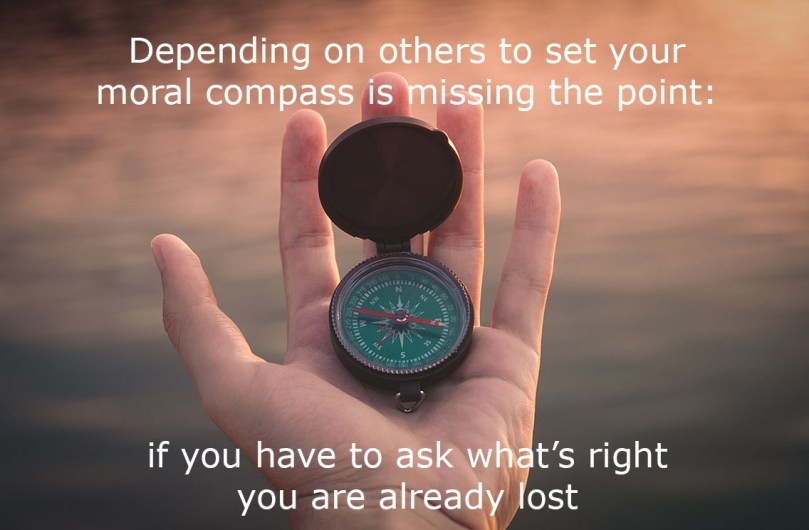 lost person with compass