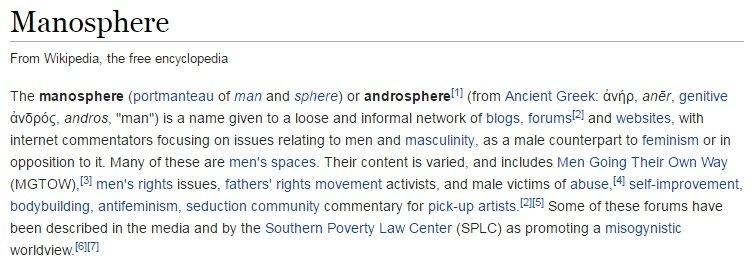 what is the manosphere