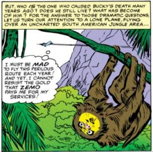 This panel isn't hugely important, except for the sloth, who is very important. I'm going to call it Harold. (Avengers #6)