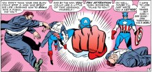 Steve speechifying while punching the shit out of someone, because why not.