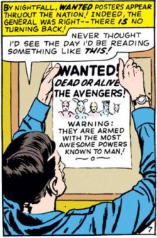That warning is very poetically phrased. (Avengers #13)