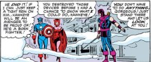 Is it just me or is this a metaphor for everything about female characters during this time period? (Avengers #17)