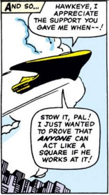 """The fact that Clint actually just called Steve a """"square"""" makes me unreasonably happy. (Avengers #18)"""