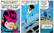 Does...does pin-up mean the same thing here that it usually does? I'm asking for a friend. (Avengers #19)