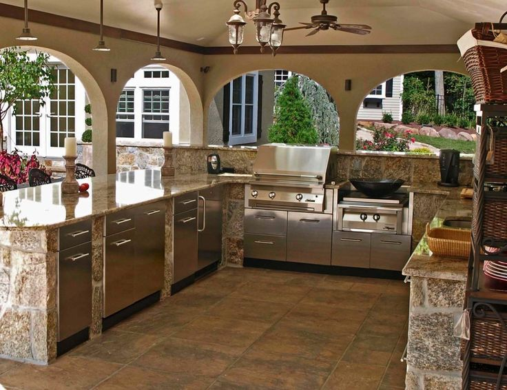Outdoor Rooms - Ways to Move Your Indoor-style Living Outside! on Patio Kitchen  id=96546