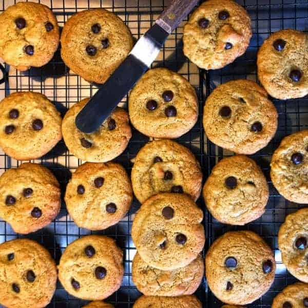 Choc Chip Cookies straight out of the oven   becs-table.com.au
