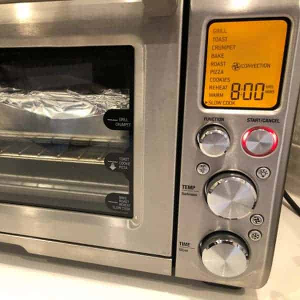 Slow cooking in the Breville smart oven
