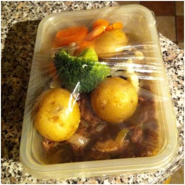 Mince & veg leftovers