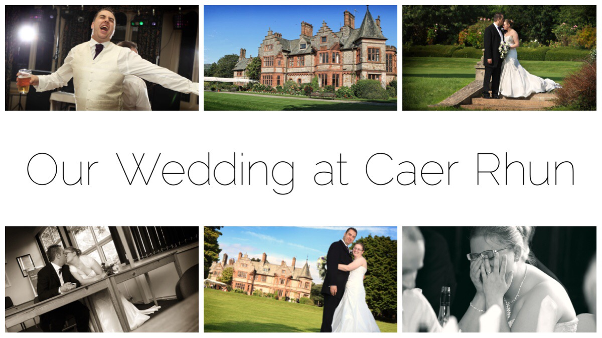 Some photos from our wedding at Caer Rhun Hall