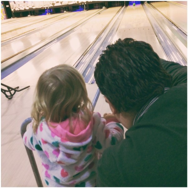 Little Miss & Daddy 10 Pin Bowling