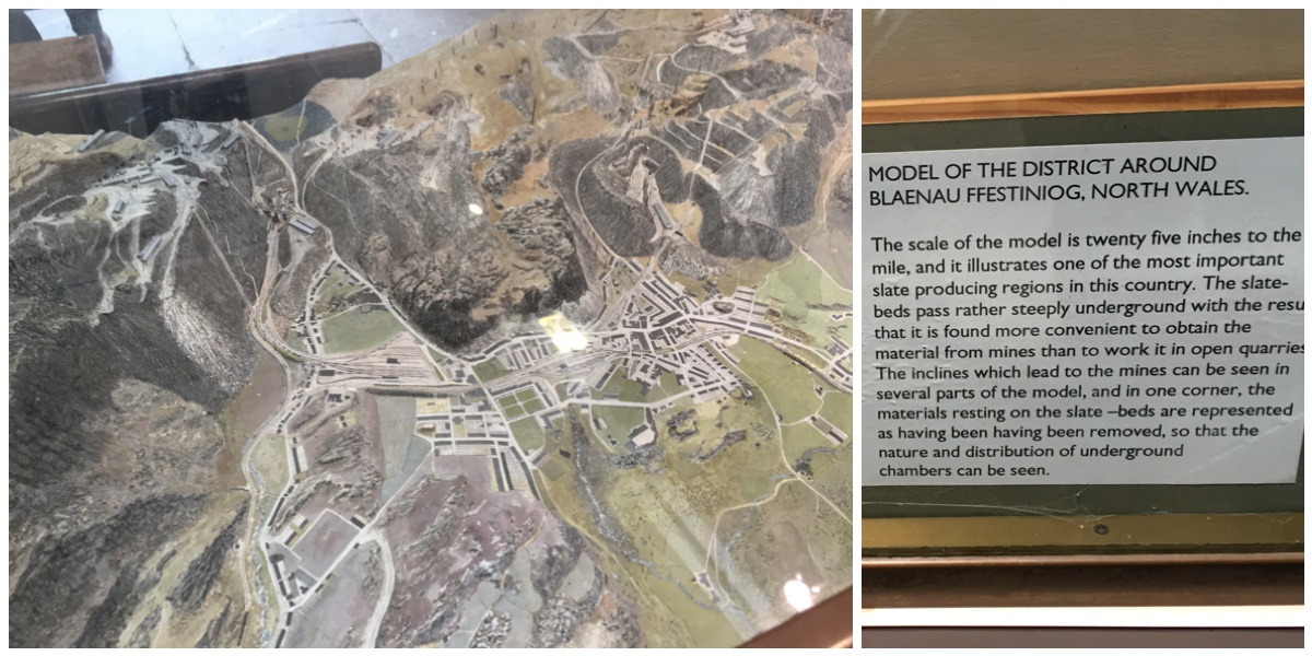 Scale model of the Blaenau Ffestiniog quarries at Welsh Slate Museum