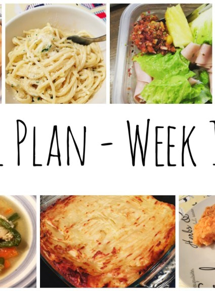 Meal Plan – Weeks 1 and 2