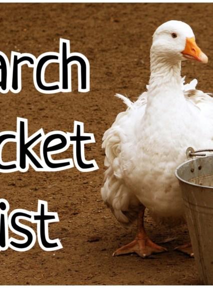Bucket List – March