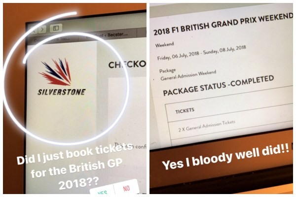 Booking tickets to the 2018 British F1 Grand Prix at Silverstone