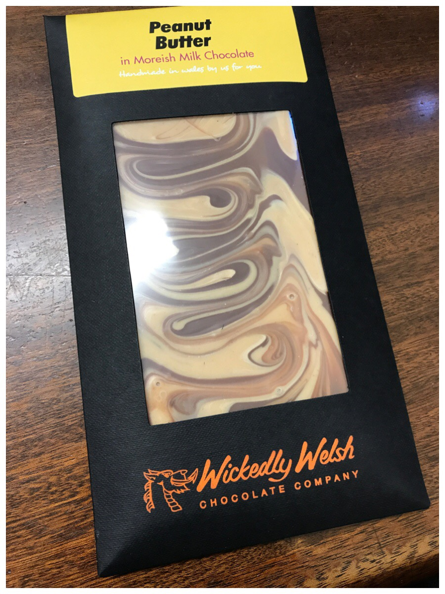 Wickedly Welsh Peanut Butter chocolate bar - it is so yummy!