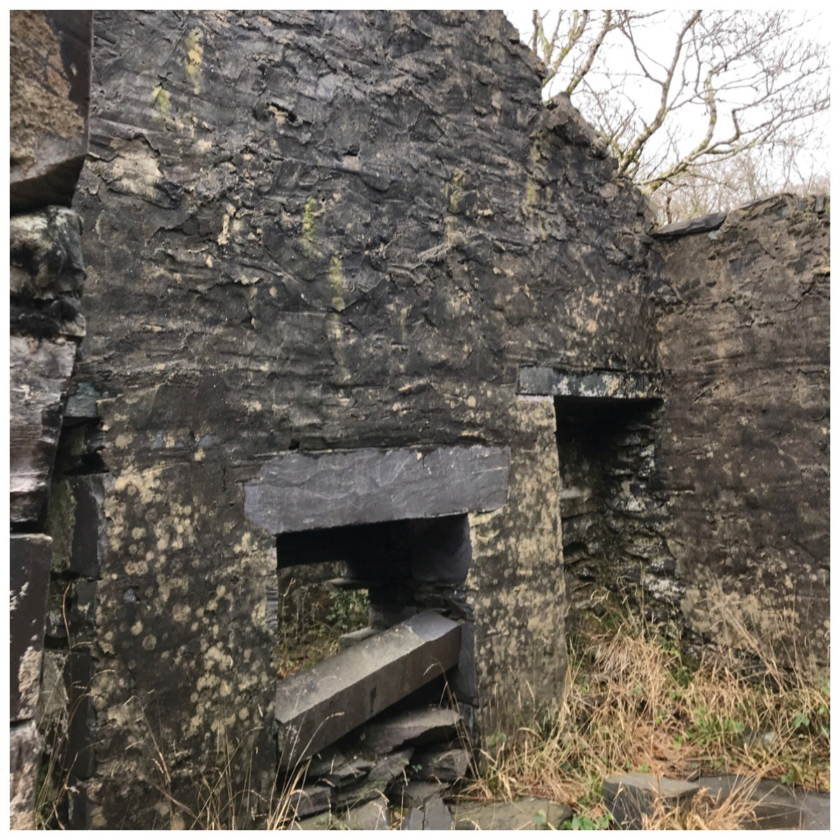 One of the rooms in the ruins of the Anglesey Barracks.