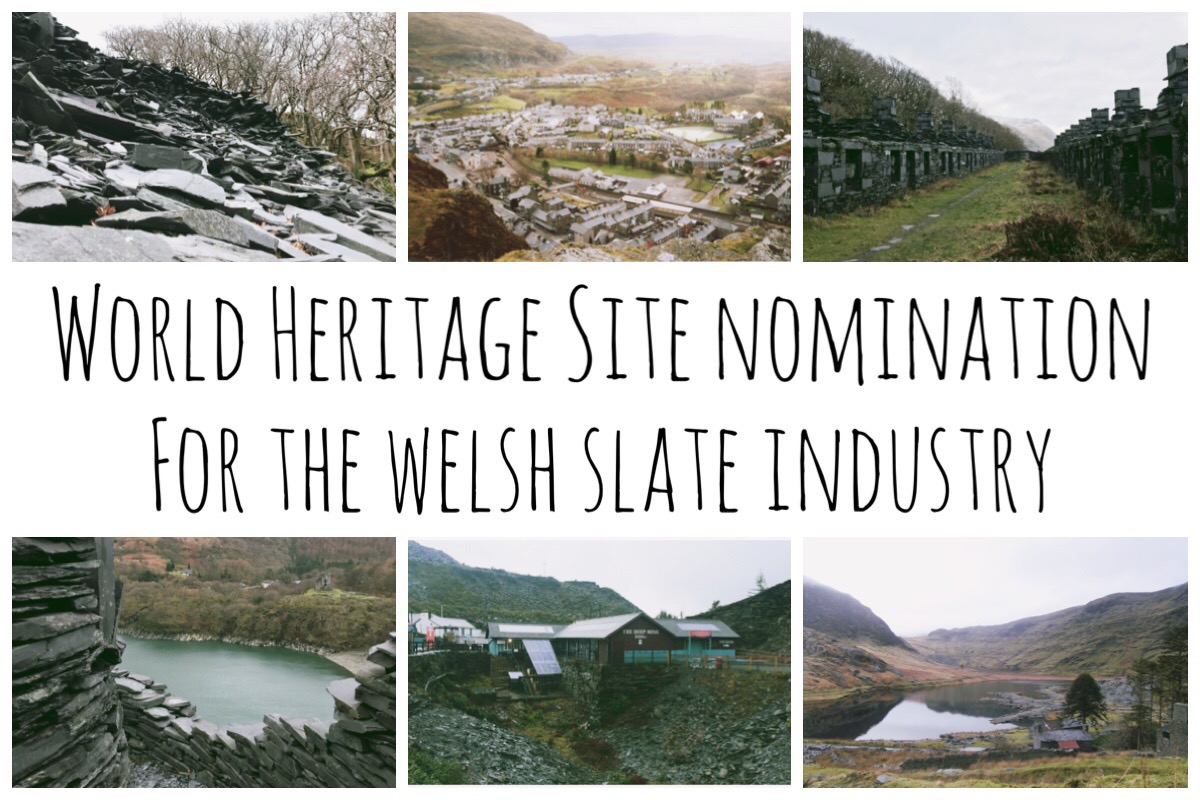 Six different scenes from the Welsh Slate Industry