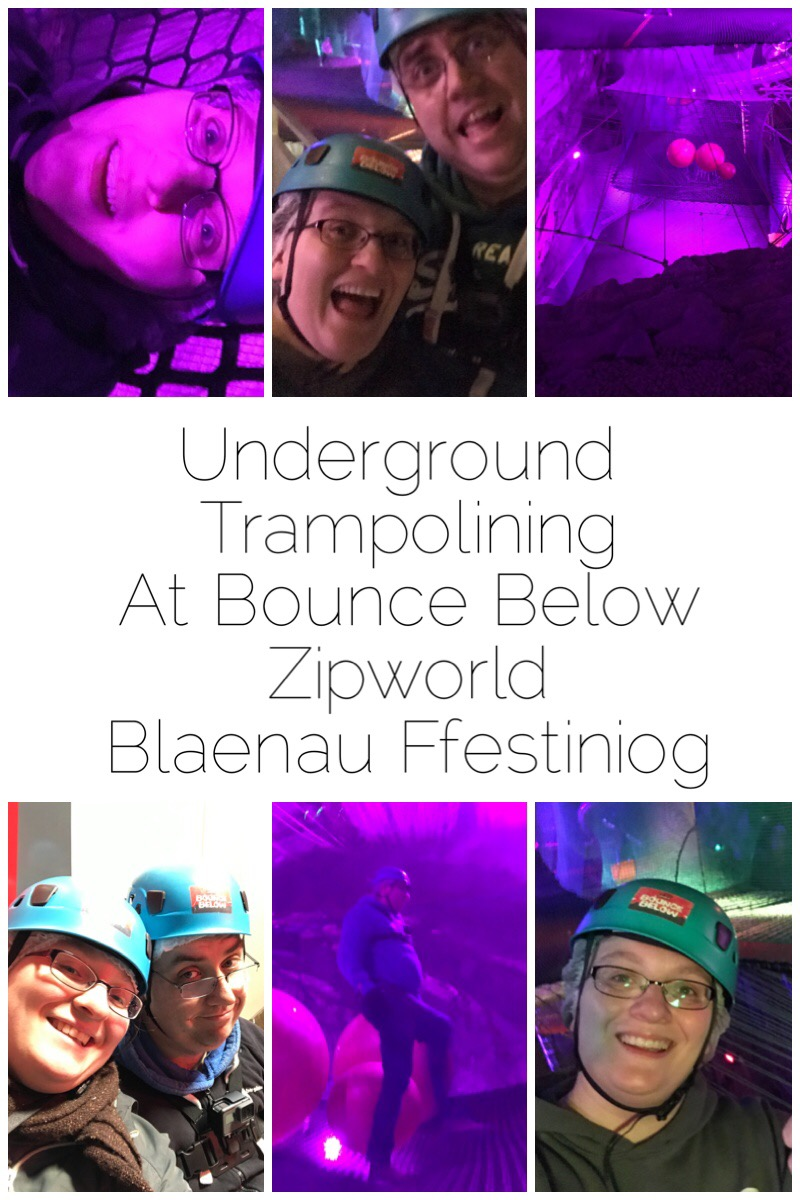 Underground Trampolining at Bounce Below, Zipworld, Blaenau Ffestiniog - What used to be one of the biggest slate mines in the world has now been transformed into an underground playground with trampolines, slides, zipwires, and more. Find your way down to the giant spider but can you make it out in one piece?