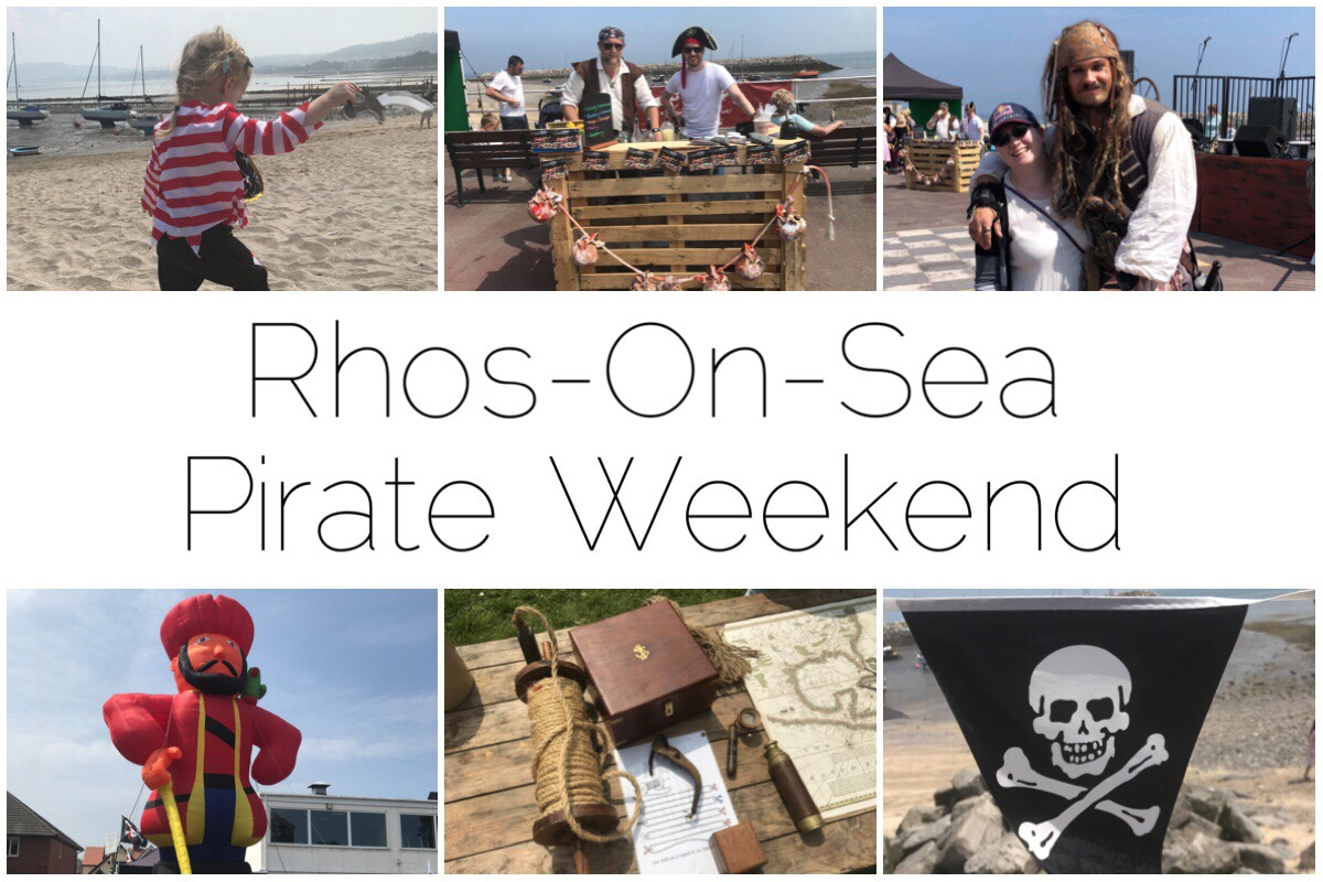Six different images from the pirate weekend