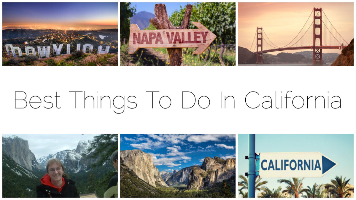 Six images of California