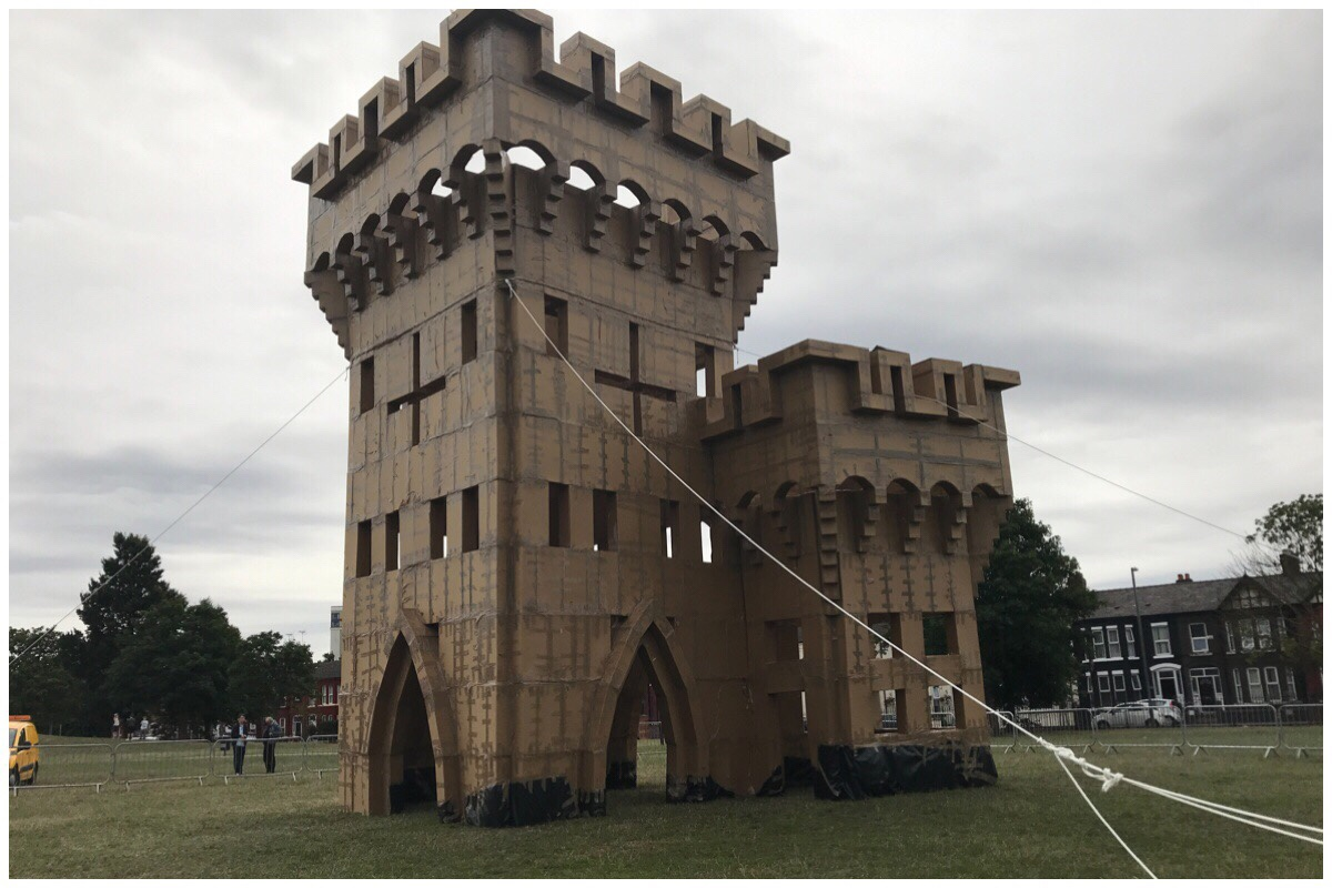 The cardboard castle at Bootle