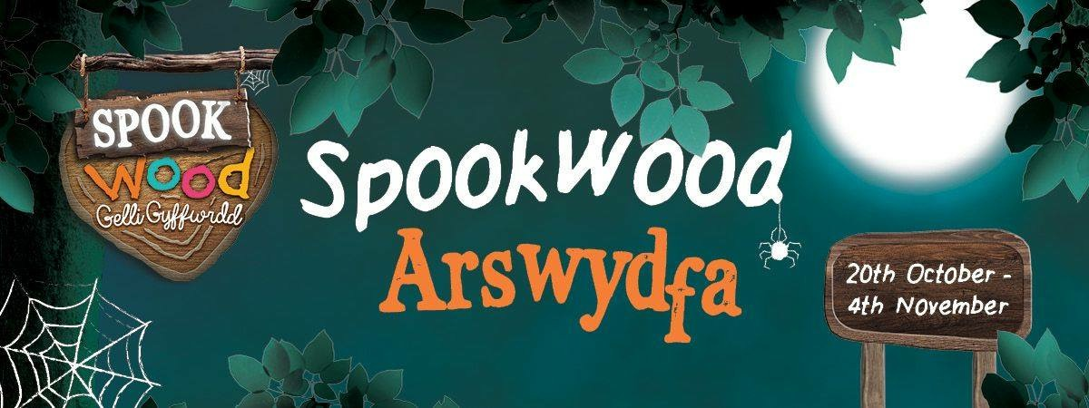 The poster for Spookwood at Greenwood Forest Park