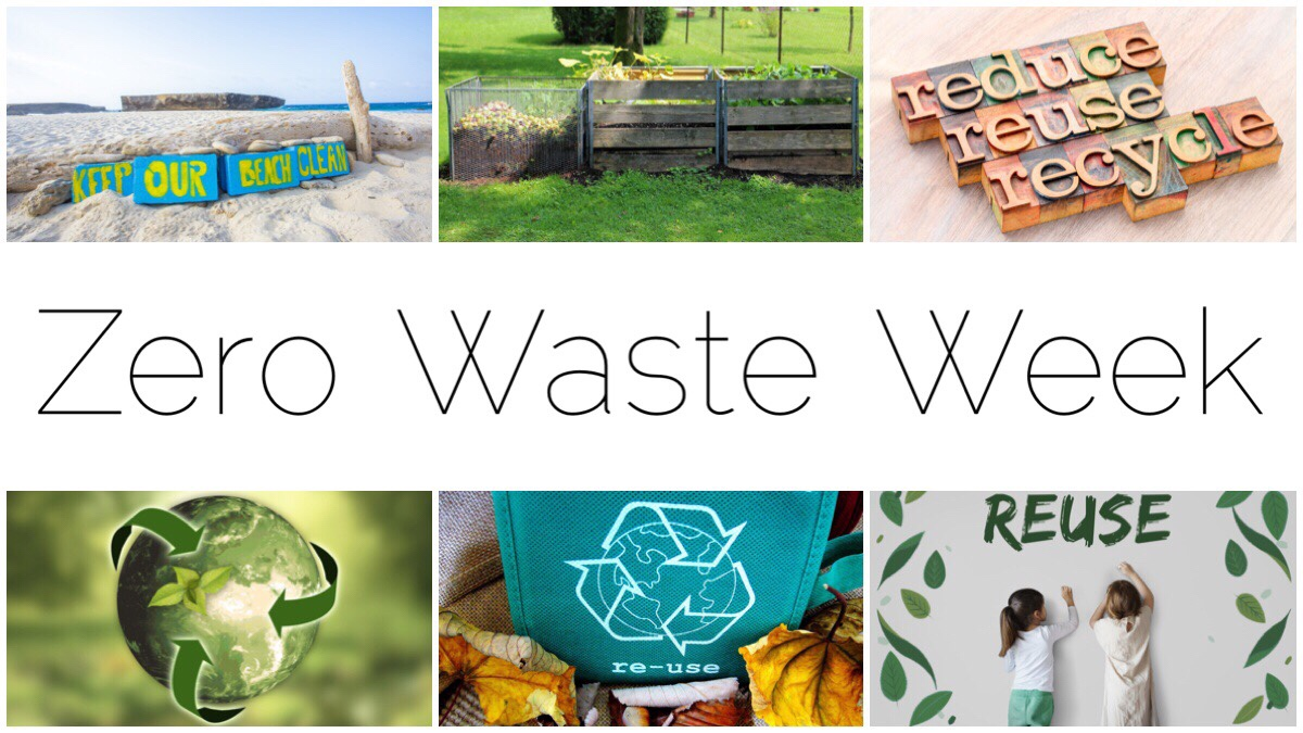 Six different images of recycling