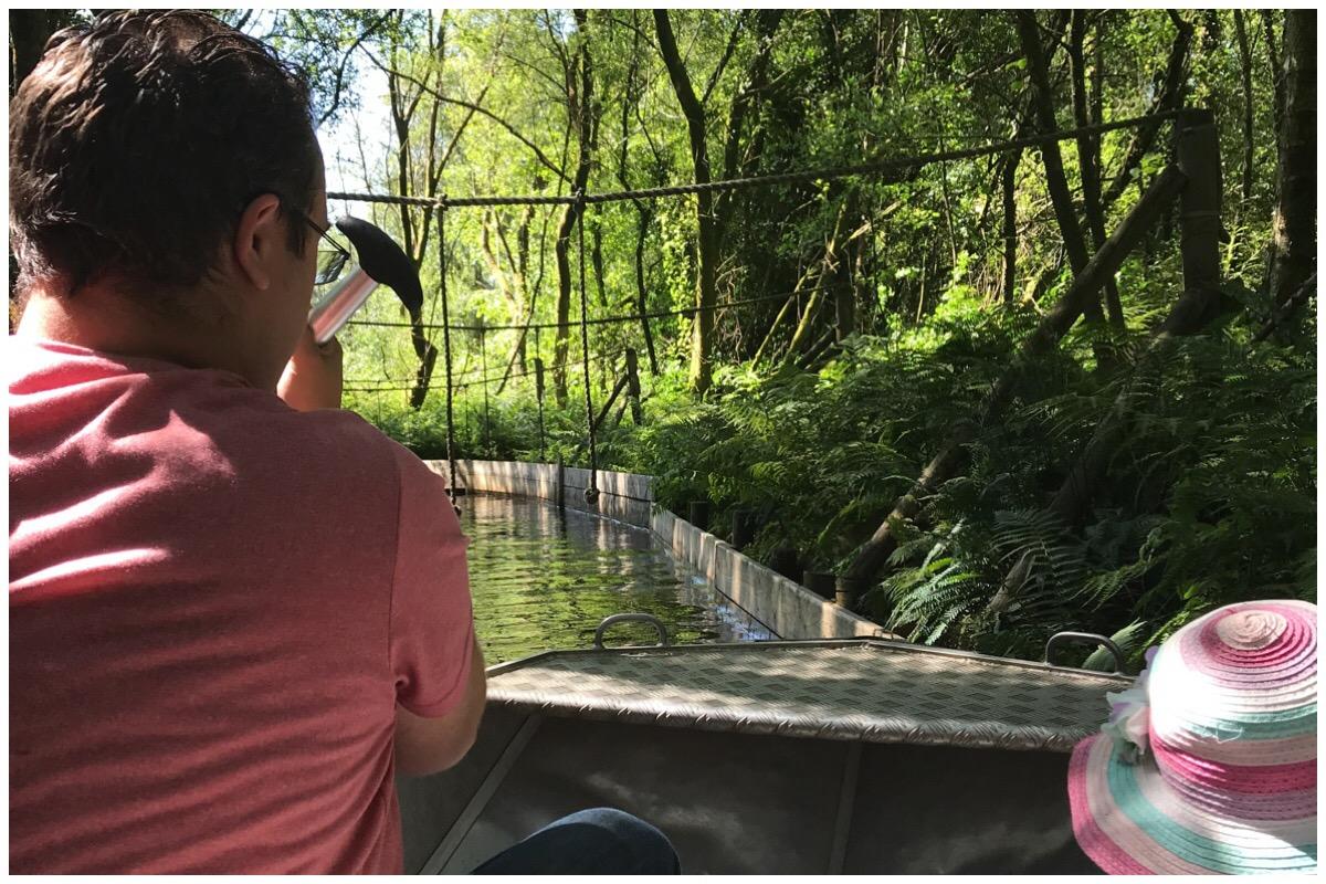 Husband and eldest boating at Greenwood Forest Park