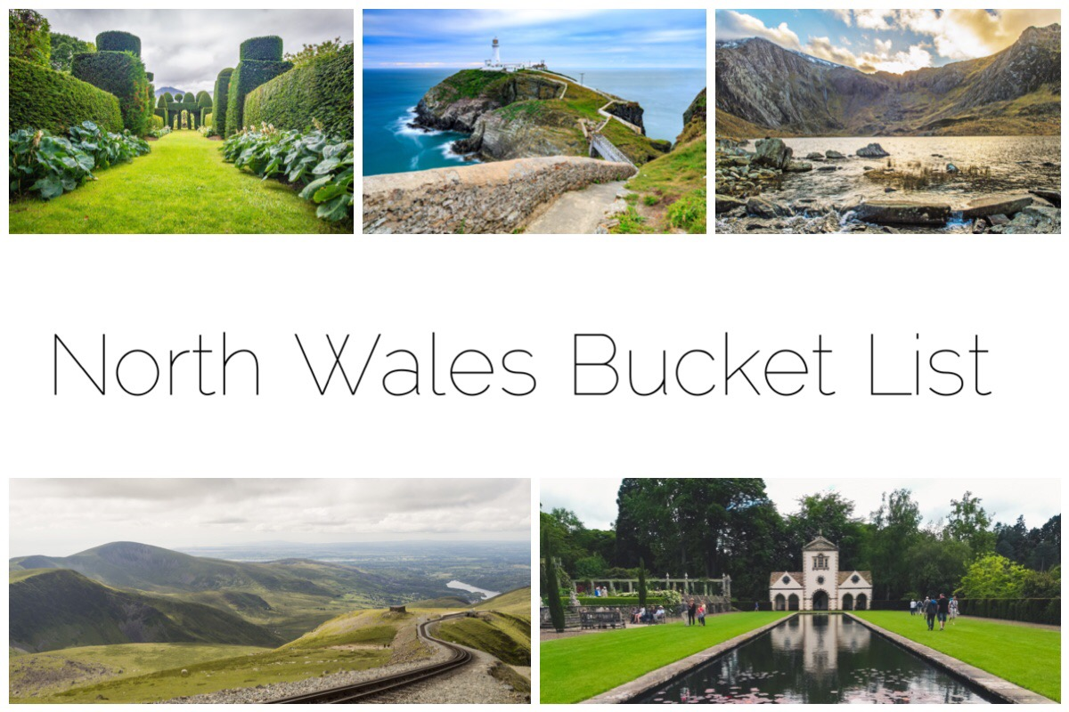 North Wales Bucket List - thumbnails of 5 places in North Wales I want to visit this year