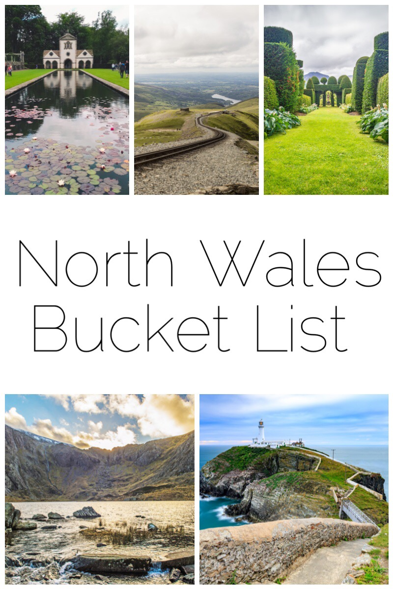 North Wales Bucket List - there are so many places in North Wales that I've never visited. So here is my top 5 places to visit this year including Bodnant Gardens, Snowdon, Plas Brondanw, Cwm Idwal and South Stack