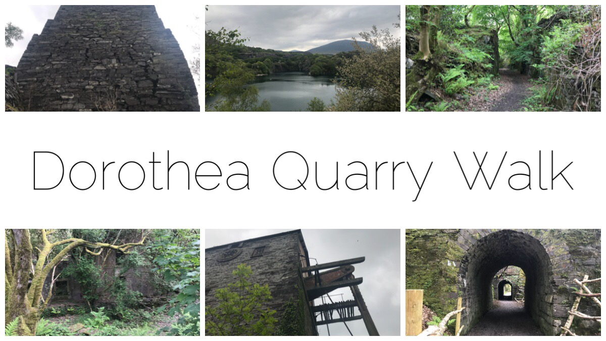 Header image including six images from the Dorothea Quarry Walk