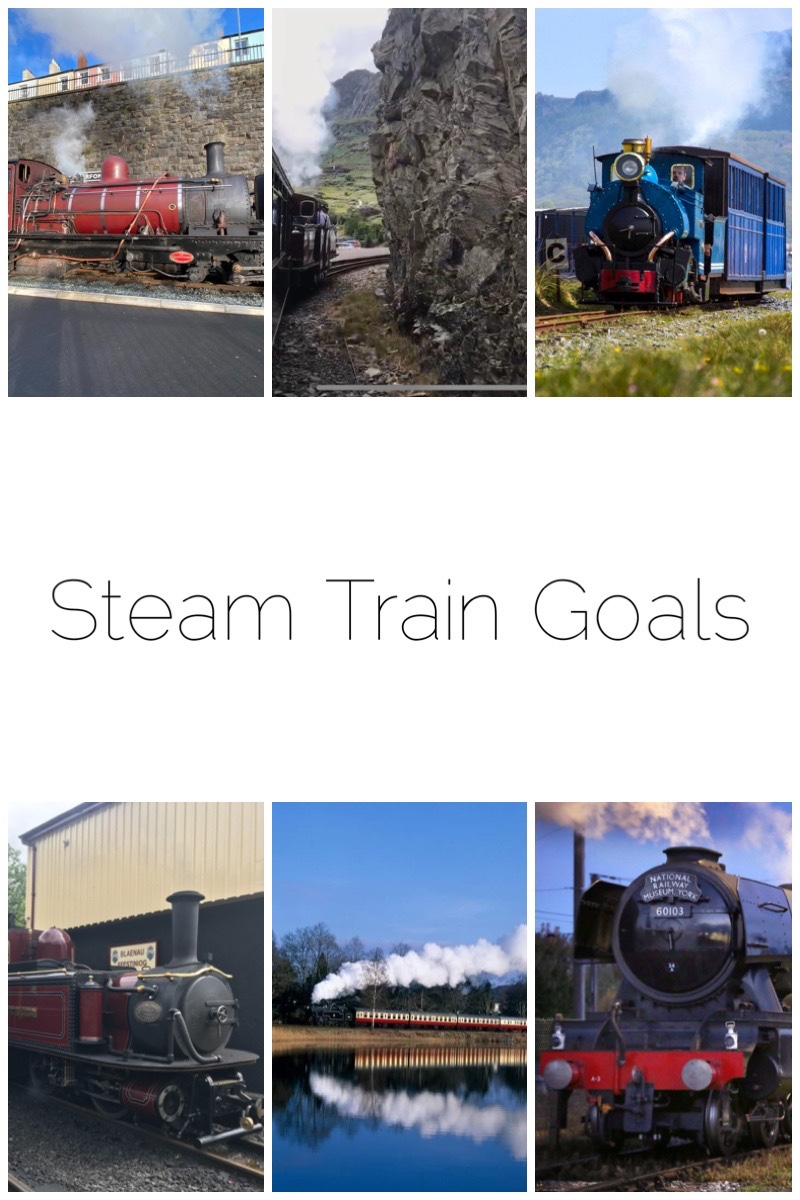 My Steam Train Goals for 2020 - includes attending the Victorian weekend on the Ffestiniog Railway, take a trip on their gravity trains, visit the Lakeside and Haverthwaite Railway, tick off at least two of the South Snowdonia railways and see The Flying Scotsman