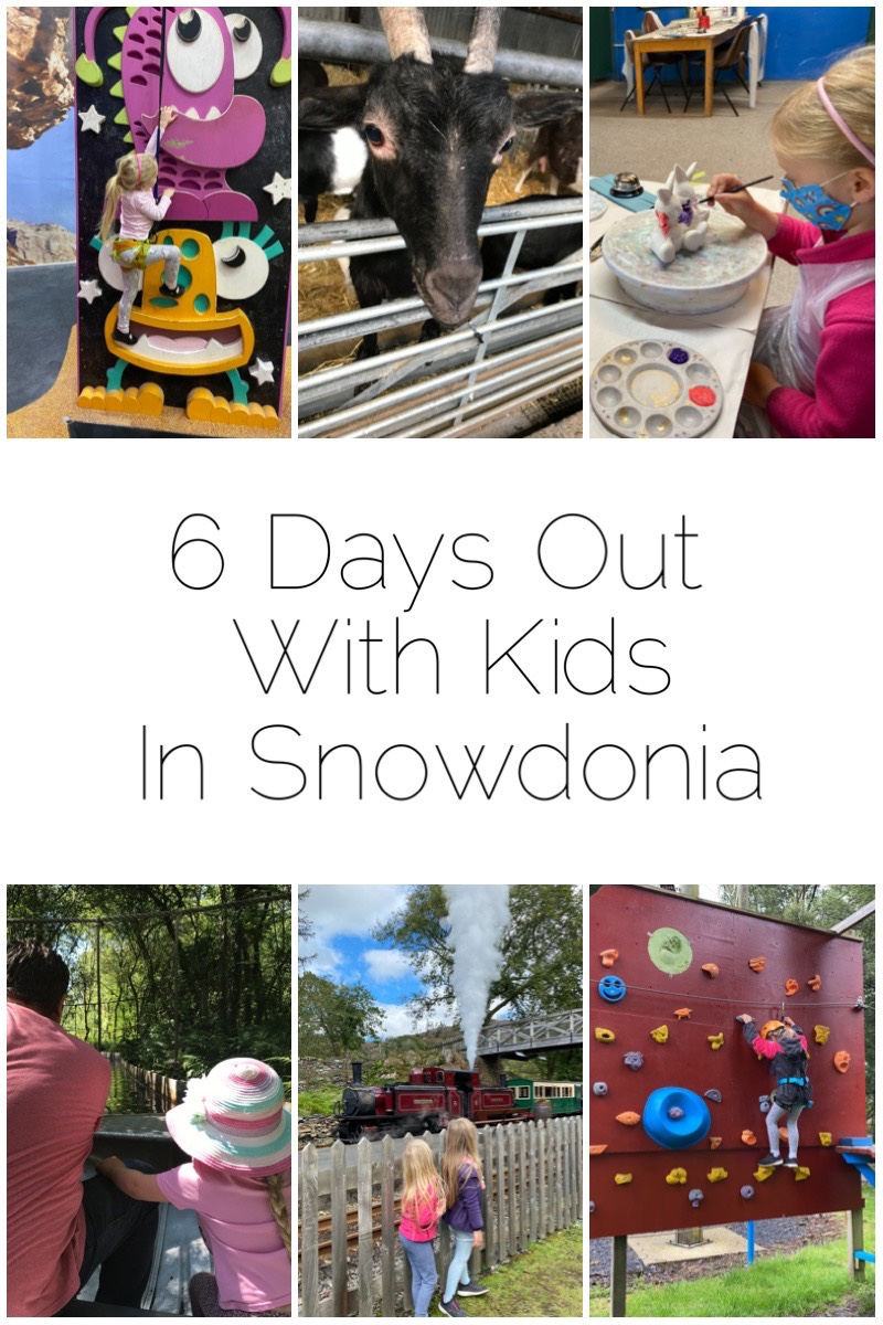 6 Days Out With Kids in Snowdonia - including Piggery Pottery, Beacon Climbing Centre, Ffestiniog Railway, Foel Farm and Ropeworks Active