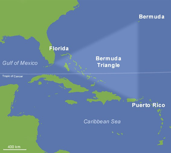 Location of Bermuda Triangle Band