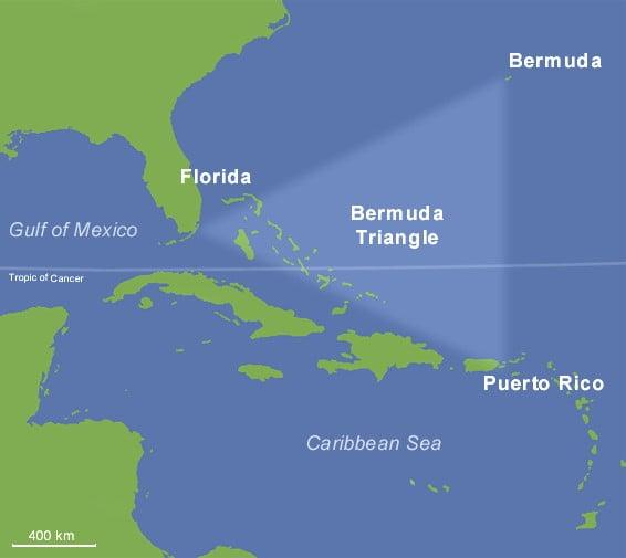 Location of Bermuda Triangle Band