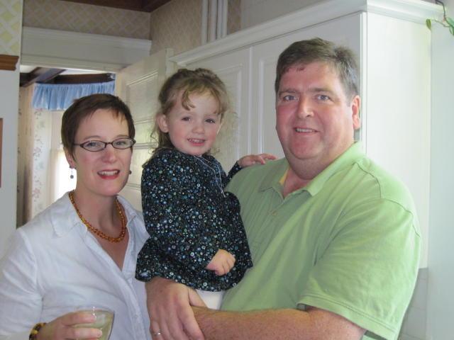 Olivia with Auntie Kay & Uncle Hug