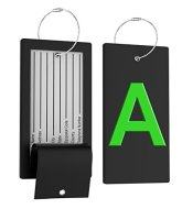 41riLbR HIL - Luggage Tag Initial Bag Tag - Fully Bendable Tag w/ Stainless Steel Loop