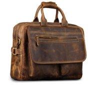 "51QAahvc1fL - Kattee Men's Leather Durable Briefcase, 16"" Laptop Bag"
