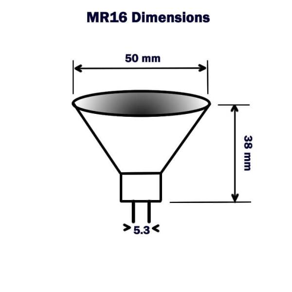 Mr16 Dimensions