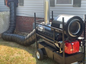 One of our indirect fired diesel heaters servicing a clients home in Oklahoma.