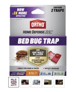 Bed bug trap with lure. Dead Bug Walkin LLC. Oklahoma.